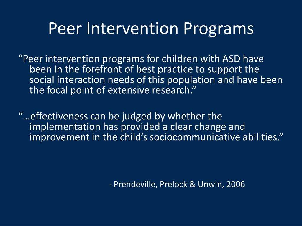 Peer Intervention Programs