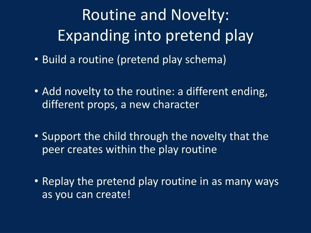 Routine and Novelty: