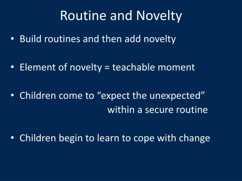 Routine and Novelty