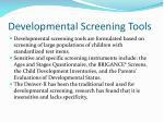 developmental screening tools