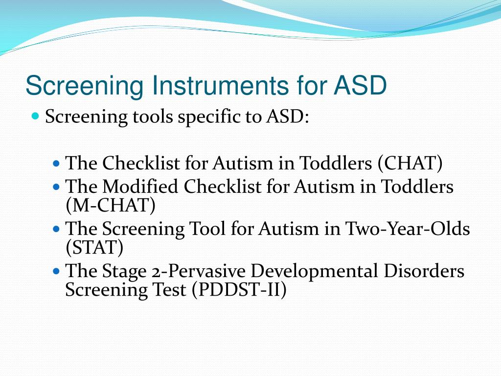 Screening Instruments for ASD