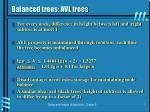 balanced trees avl trees