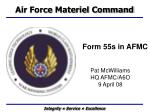 form 55s in afmc