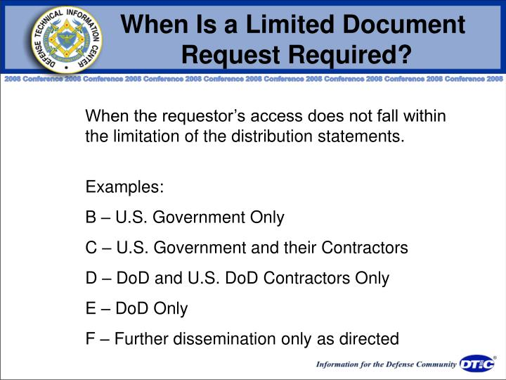 When Is a Limited Document