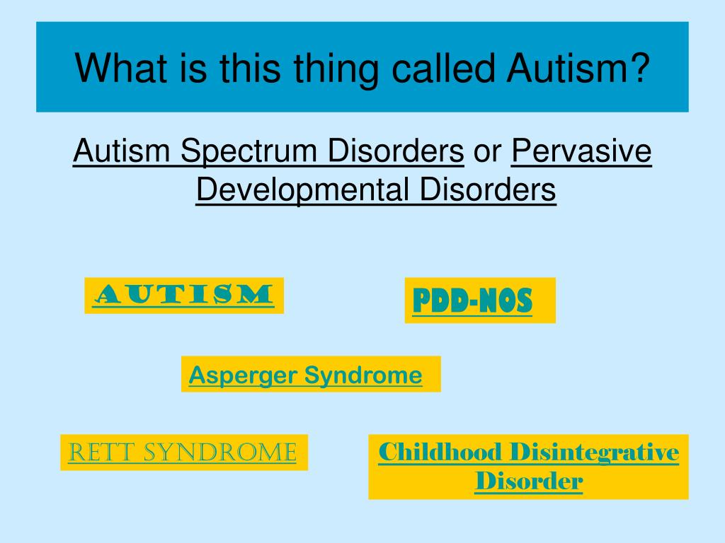 What is this thing called Autism?