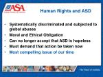 human rights and asd
