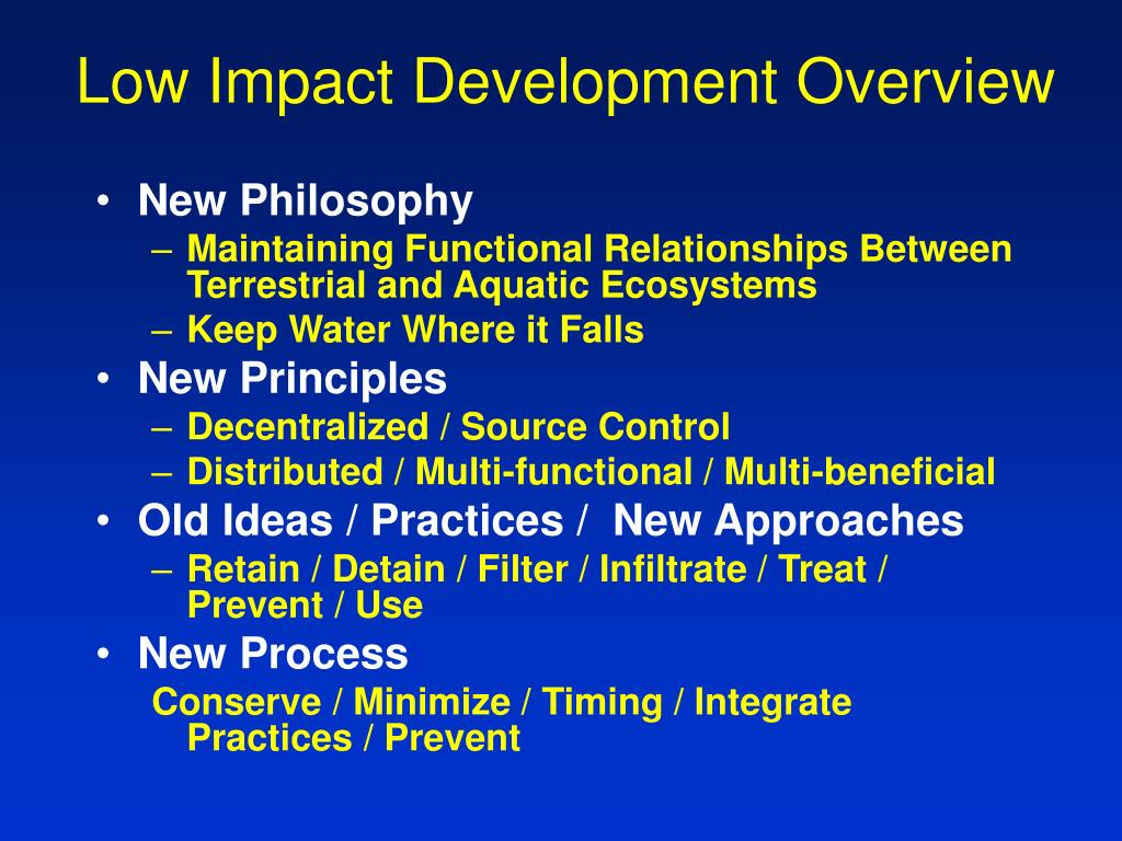 low impact development overview l.