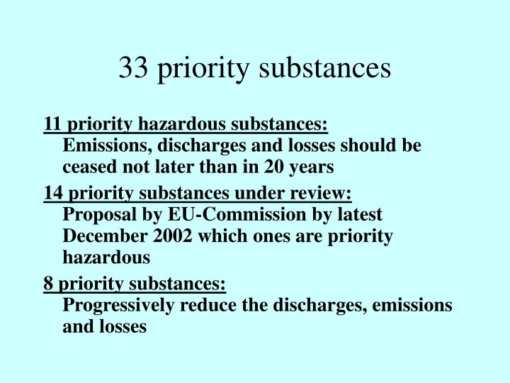 33 priority substances