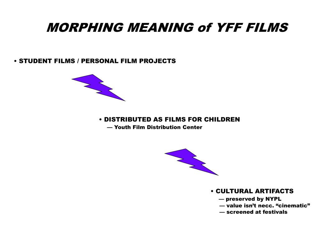 MORPHING MEANING of YFF FILMS