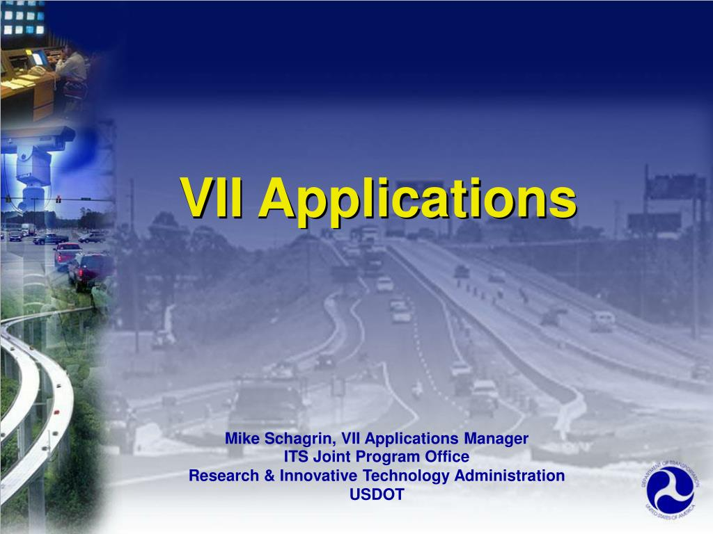 VII Applications