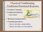 classical conditioning conditioned emotional response