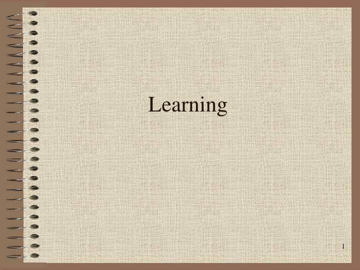 learning n.