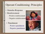 operant conditioning principles