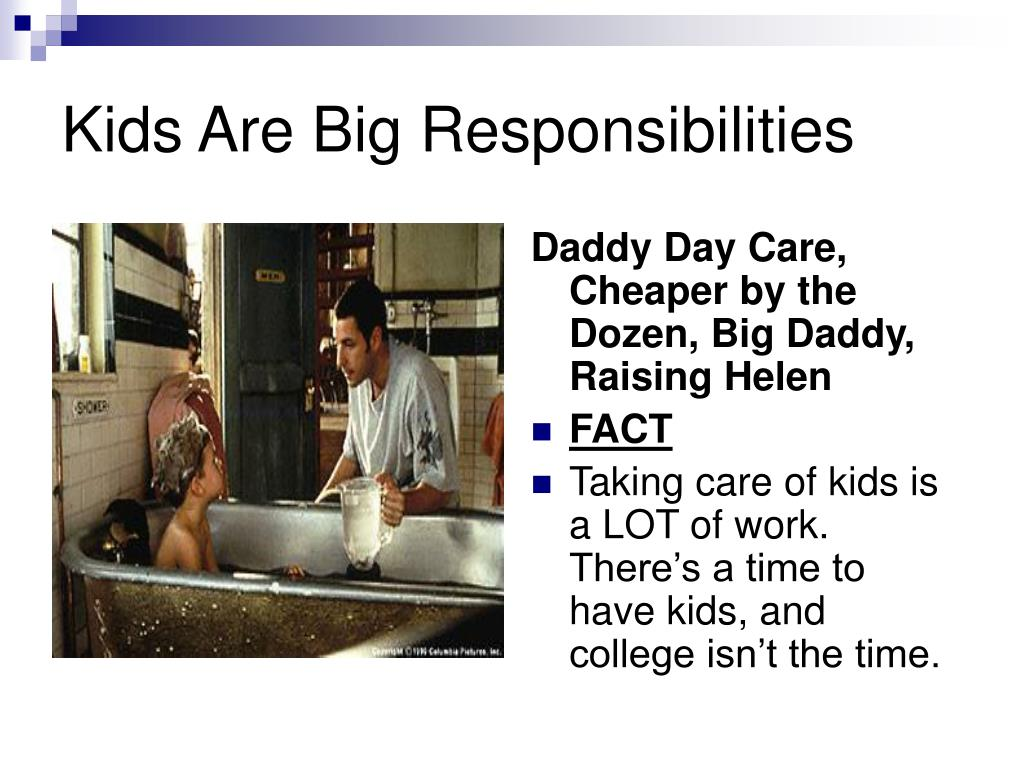 Kids Are Big Responsibilities