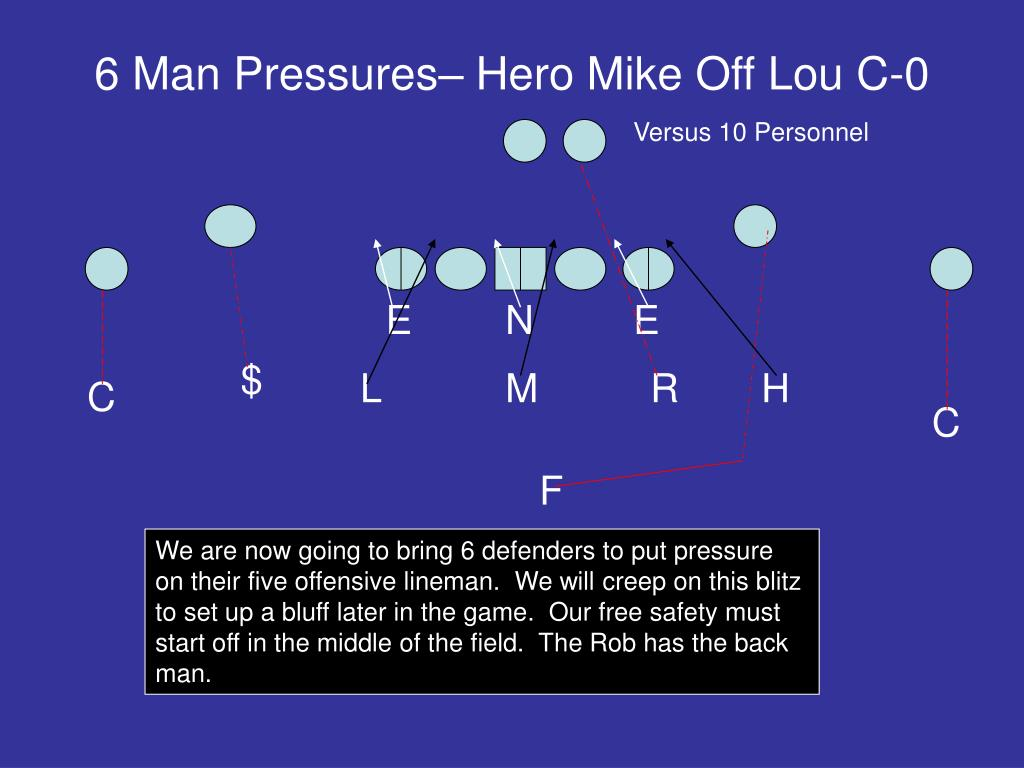 6 Man Pressures– Hero Mike Off Lou C-0