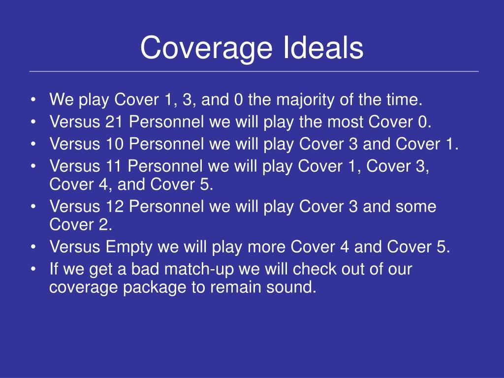 Coverage Ideals