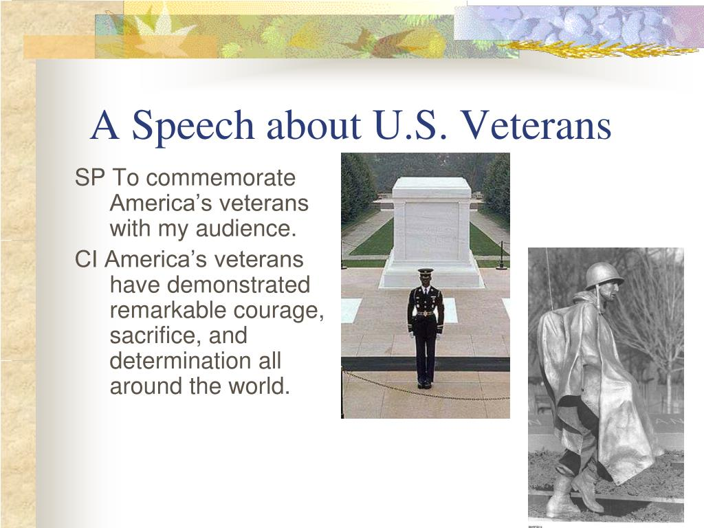 A Speech about U.S. Veterans