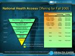 national health access offering for fall 2005