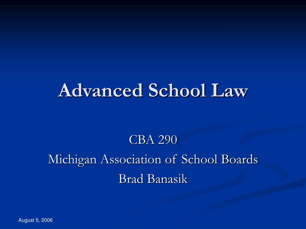 advanced school law l.