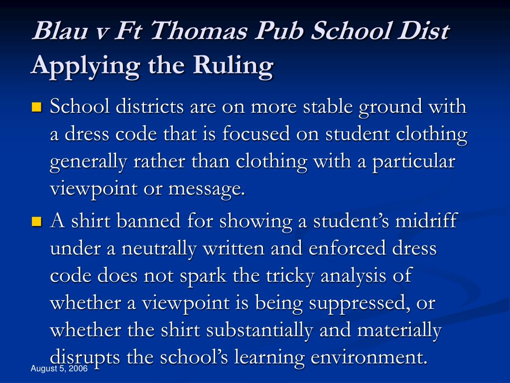 Blau v Ft Thomas Pub School Dist