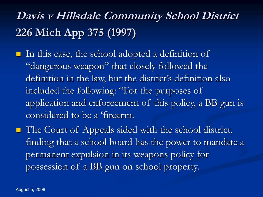 Davis v Hillsdale Community School District