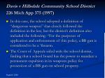 davis v hillsdale community school district 226 mich app 375 1997