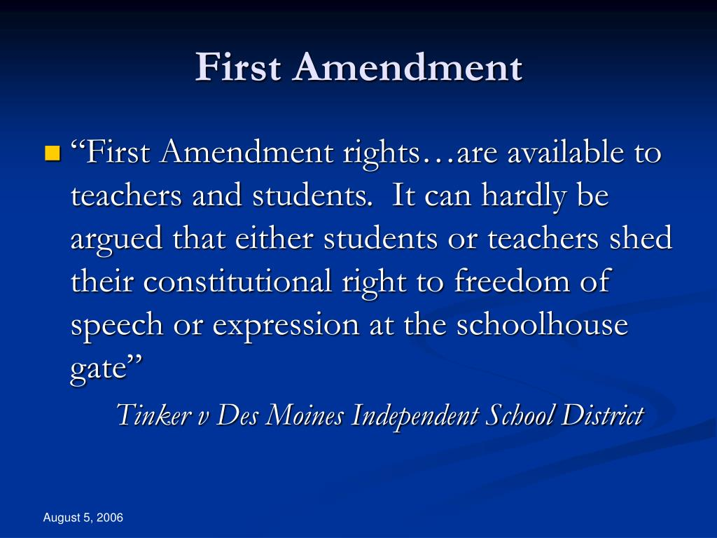 First Amendment