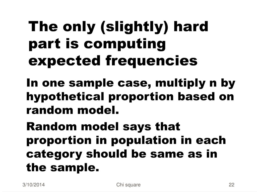 The only (slightly) hard part is computing expected frequencies