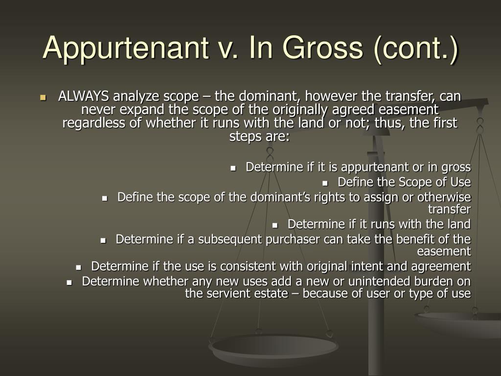 Appurtenant v. In Gross (cont.)