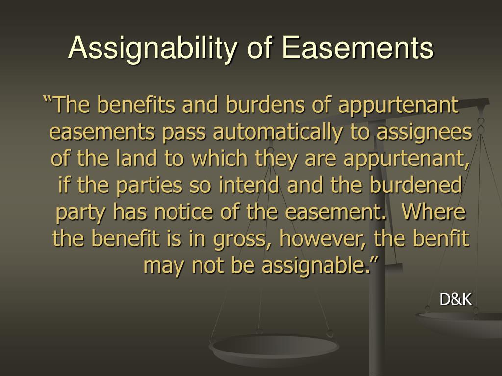 Assignability of Easements