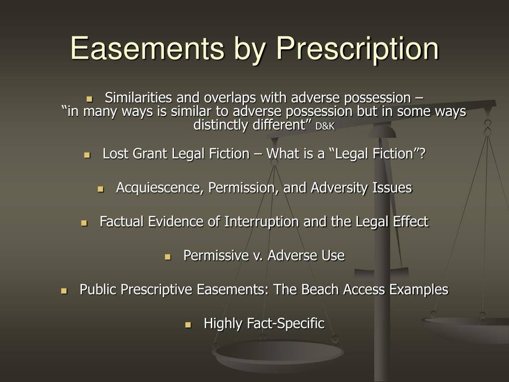 Easements by Prescription