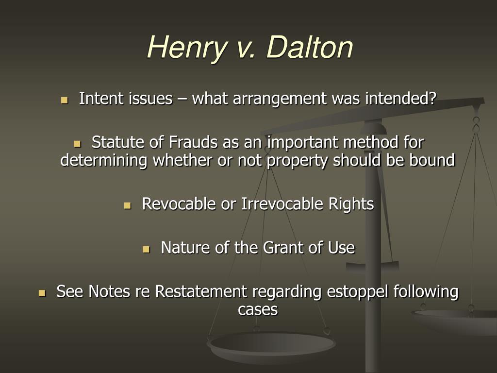 Henry v. Dalton