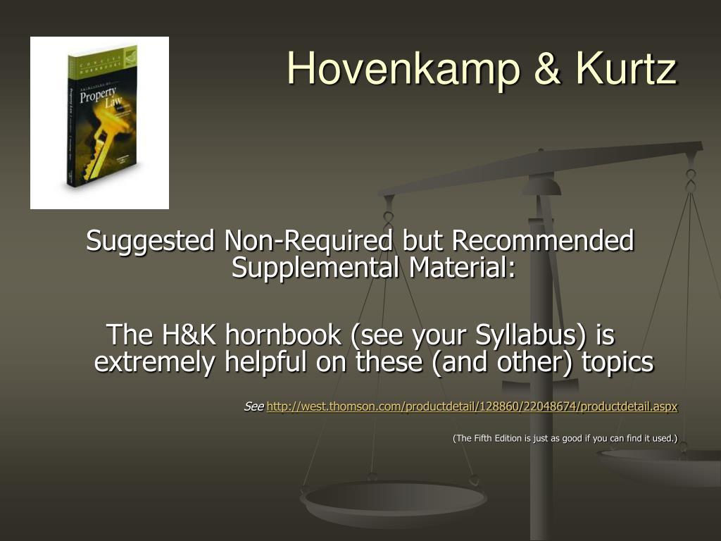 Hovenkamp & Kurtz