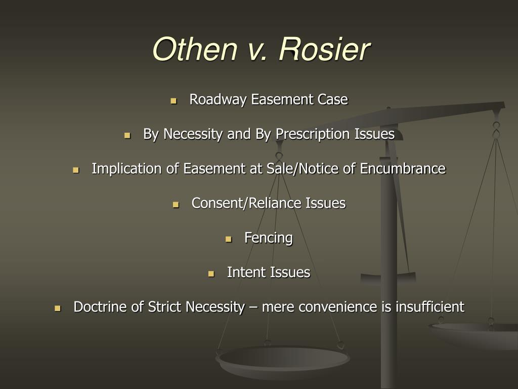 Othen v. Rosier