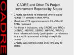 cadre and other ta project involvement reported by states