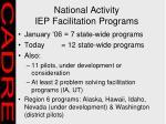national activity iep facilitation programs