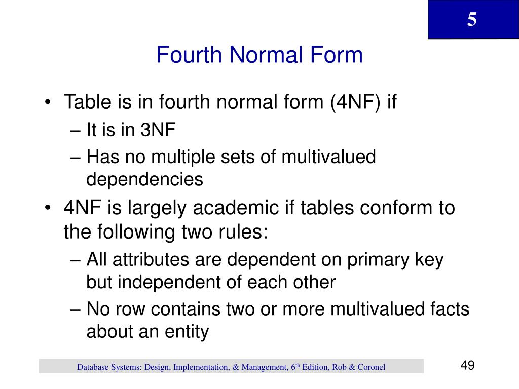 Fourth Normal Form