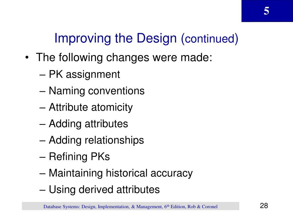 Improving the Design (