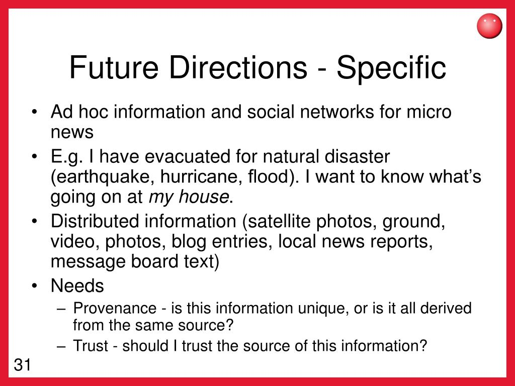 Future Directions - Specific
