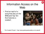 information access on the web