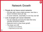 network growth