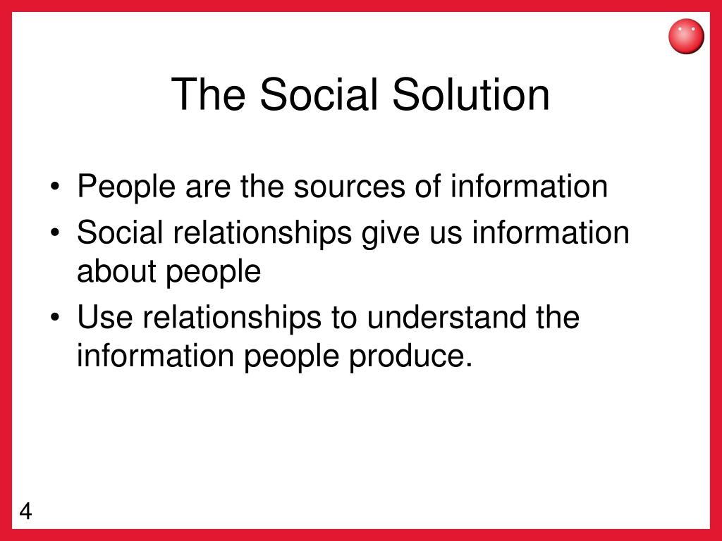 The Social Solution