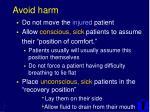 avoid harm