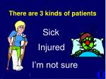 there are 3 kinds of patients