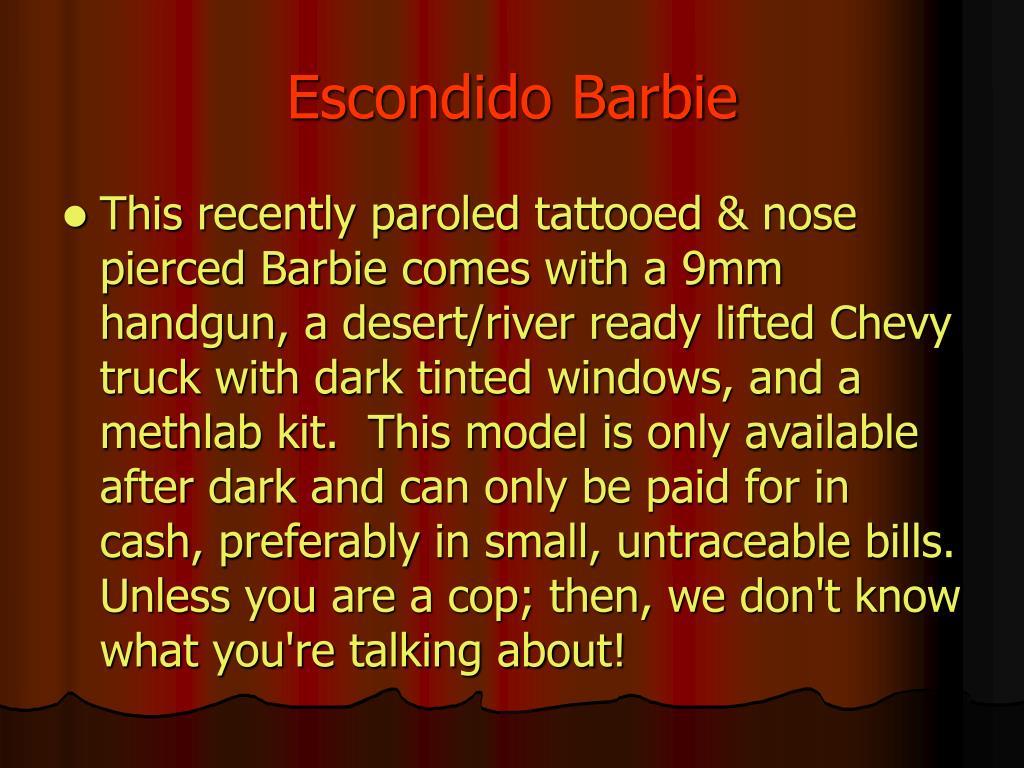Escondido Barbie
