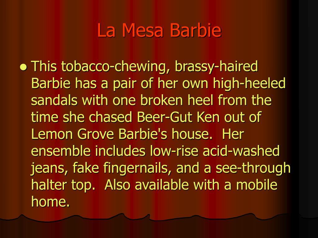 La Mesa Barbie