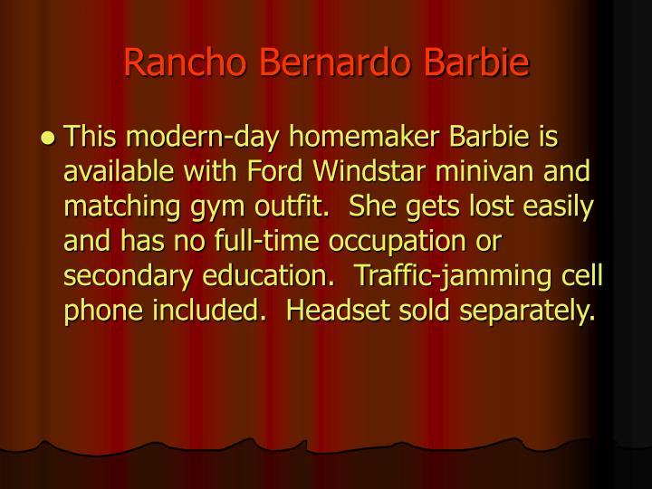 Rancho bernardo barbie