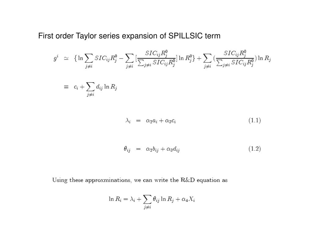 First order Taylor series expansion of SPILLSIC term