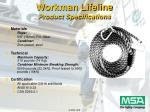 workman lifeline product specifications