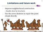limitations and future work